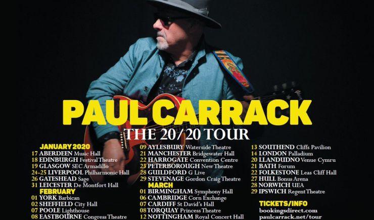 Paul Carrack - 2020 Tour