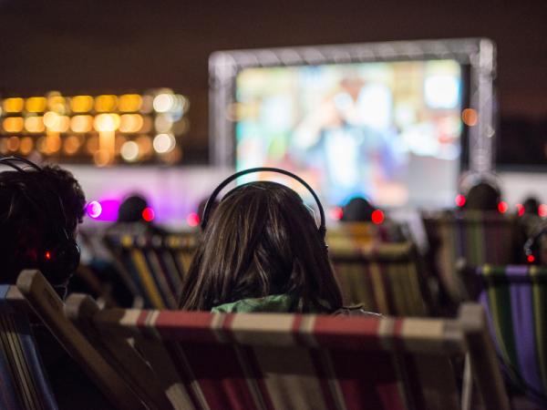 Open-air cinema at Chicheley Hall, Milton Keynes